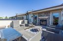 Rooftop Deck with Fireplace - 10888 SYMPHONY PARK DR, NORTH BETHESDA