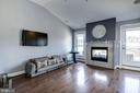 Upper Level Family Room with Wet Bar & Fireplace - 10888 SYMPHONY PARK DR, NORTH BETHESDA