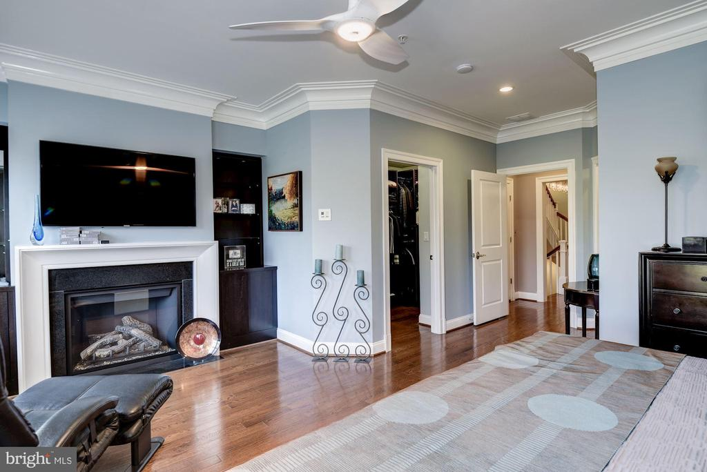 Master Bedroom with Fireplace - 10888 SYMPHONY PARK DR, NORTH BETHESDA