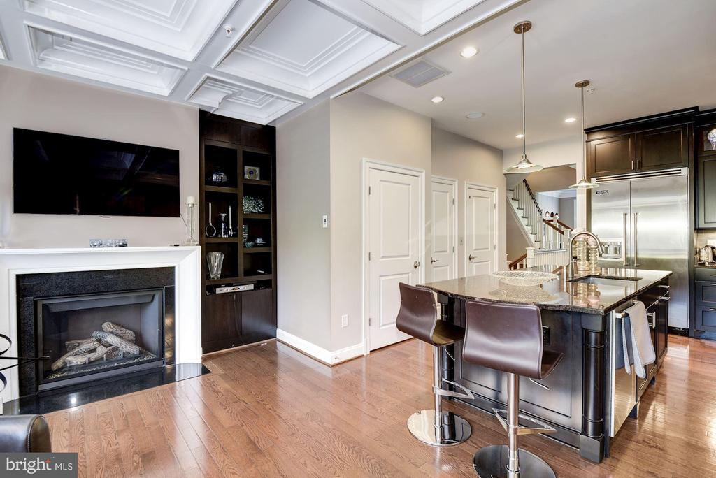 Family Room with Fireplace - 10888 SYMPHONY PARK DR, NORTH BETHESDA
