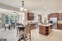 Gourmet kitchen and informal dining area. - 38 PRESIDENTIAL LN, STAFFORD