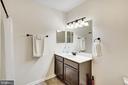 Basement hallway bathroom (full). - 38 PRESIDENTIAL LN, STAFFORD