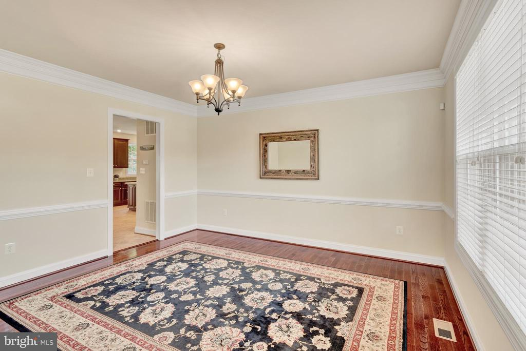 View of the dining room from the foyer. - 38 PRESIDENTIAL LN, STAFFORD
