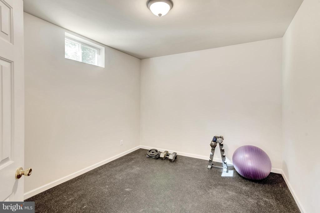 The basement exercise room 13-6