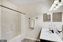 Basement hallway bathroom . - 38 PRESIDENTIAL LN, STAFFORD