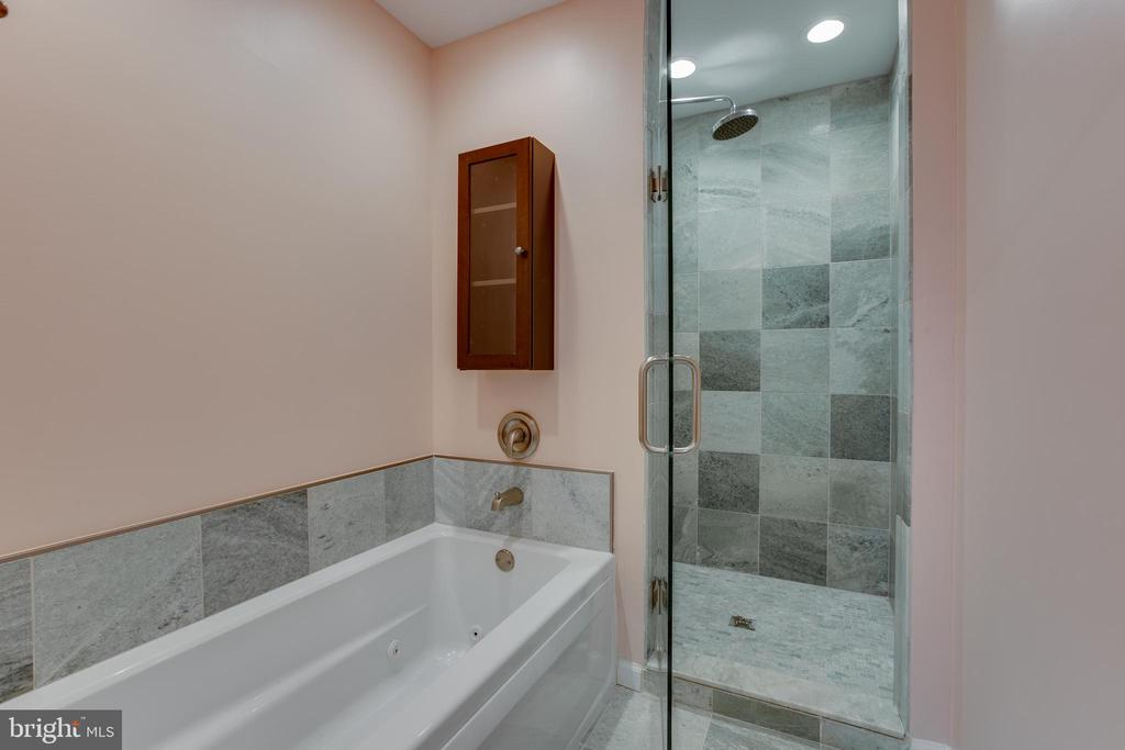 Master Bath with soaking tub and separate shower - 8 FULLVIEW CT, GAITHERSBURG