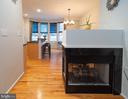 Double sided gas fireplace - 2086 N OAKLAND ST, ARLINGTON