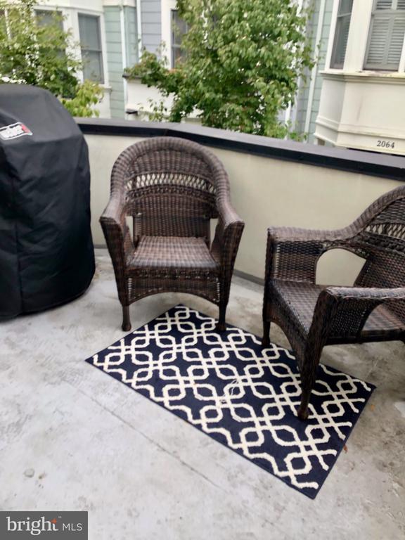 Grill friendly deck off of living room - 2086 N OAKLAND ST, ARLINGTON