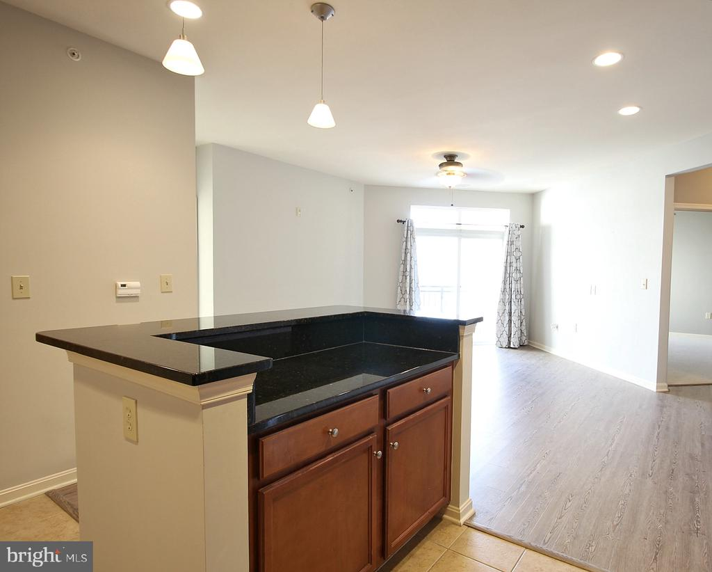 Open kitchen with island! - 2665 PROSPERITY AVE #429, FAIRFAX