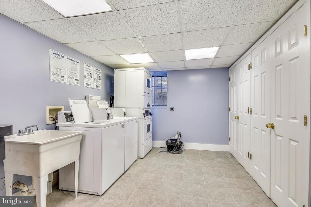 Laundry Area on Lower Level - 820-A S WASHINGTON ST #329, ALEXANDRIA