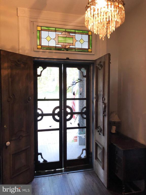 Gorgeous detail and original solid wood doors - 210 N KING ST, LEESBURG