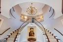 Two-story entry foyer with candlelight chandelier - 3057 RUNDELAC RD, ANNAPOLIS