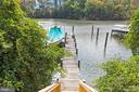 Private pier features a newly built staircase - 3057 RUNDELAC RD, ANNAPOLIS