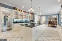 Kitchen has custom cabinets & granite counter-tops - 3057 RUNDELAC RD, ANNAPOLIS