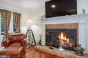 Family room has a wood-burning fireplace - 3057 RUNDELAC RD, ANNAPOLIS