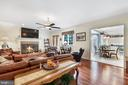 Family room has patio access and flows to kitchen - 3057 RUNDELAC RD, ANNAPOLIS