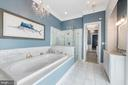 Master bath with soaking tub and glass shower - 3057 RUNDELAC RD, ANNAPOLIS