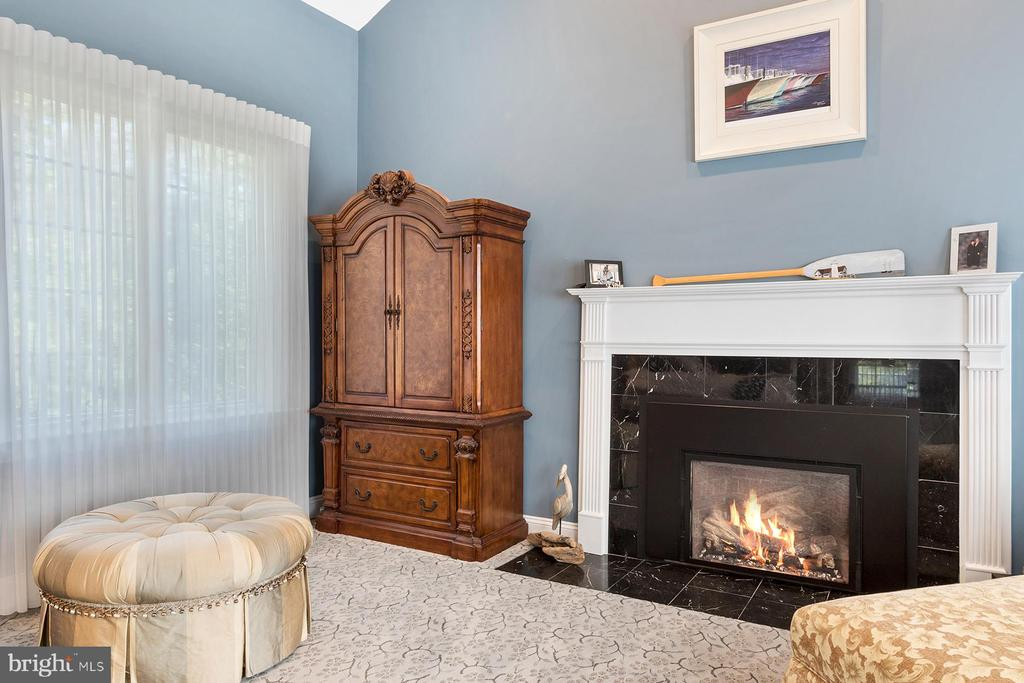 Master suite has a gas fireplace for cozy retreat - 3057 RUNDELAC RD, ANNAPOLIS