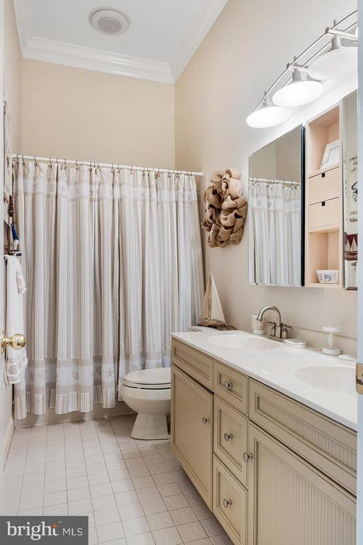 Upper level hallway bath features a large vanity - 3057 RUNDELAC RD, ANNAPOLIS