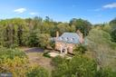 Aerial of the side driveway to the four car garage - 3057 RUNDELAC RD, ANNAPOLIS