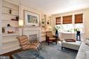 Living Room with custom shelving - 3041 SEDGWICK ST NW #503-D, WASHINGTON