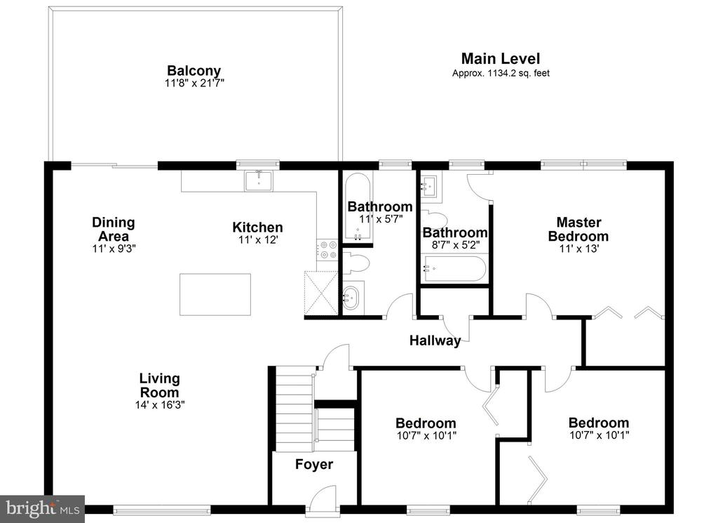 Main Level Floor Plan - 14 BRYANT BLVD, STAFFORD