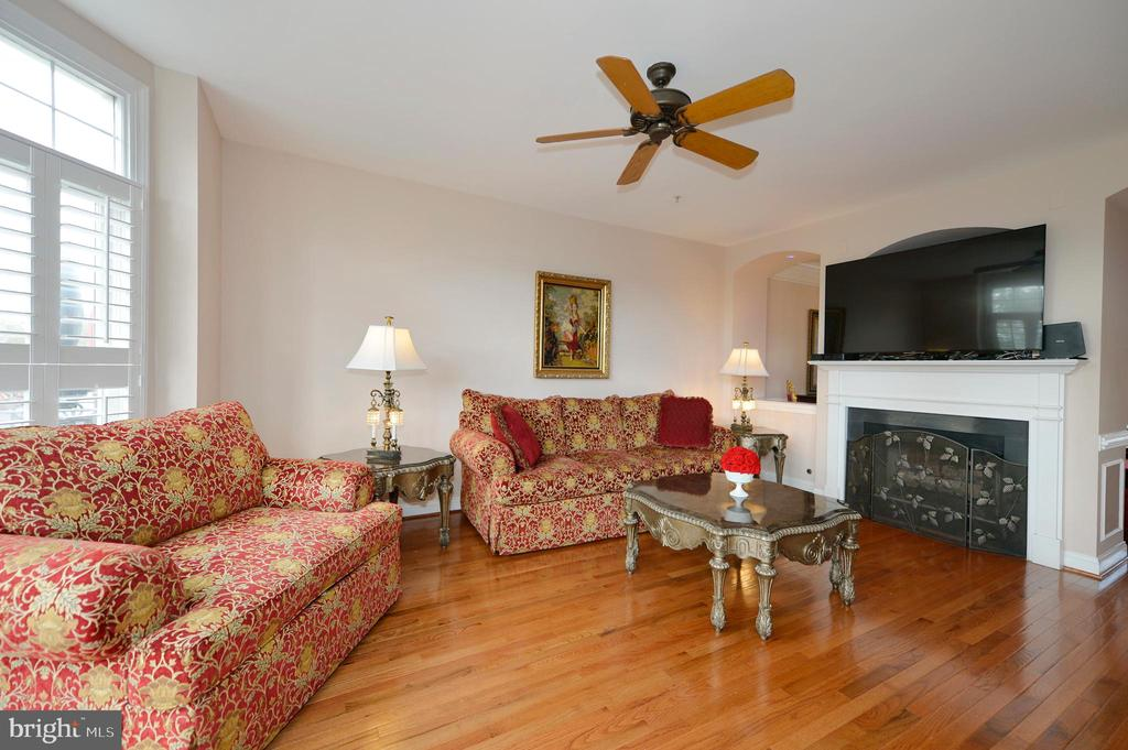 Family Room Has Bay Bump-out - 43809 BENT CREEK TER, LEESBURG
