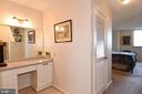 Master Bedroom Dressing Area - View into MBR - 1101 S ARLINGTON RIDGE RD #903, ARLINGTON