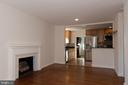 Fireplace, Hardwood Floors and Opens to Kitchen - 7308 FRANKLIN RD, ANNANDALE