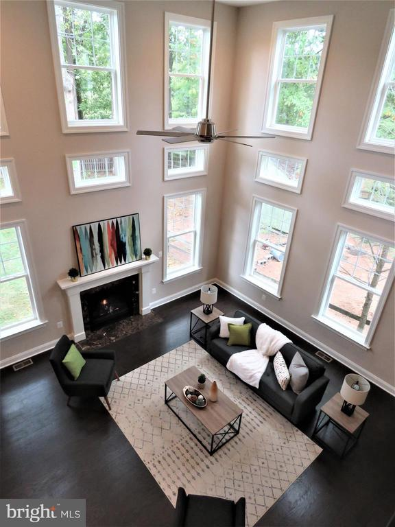 Great Room from Second Floor Balcony - 723 CARR AVE, ROCKVILLE