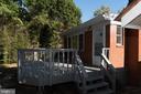 Rear Deck from Yard - 7308 FRANKLIN RD, ANNANDALE
