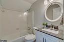 1 of 2 upper level full baths - 3822 KING ARTHUR RD, ANNANDALE