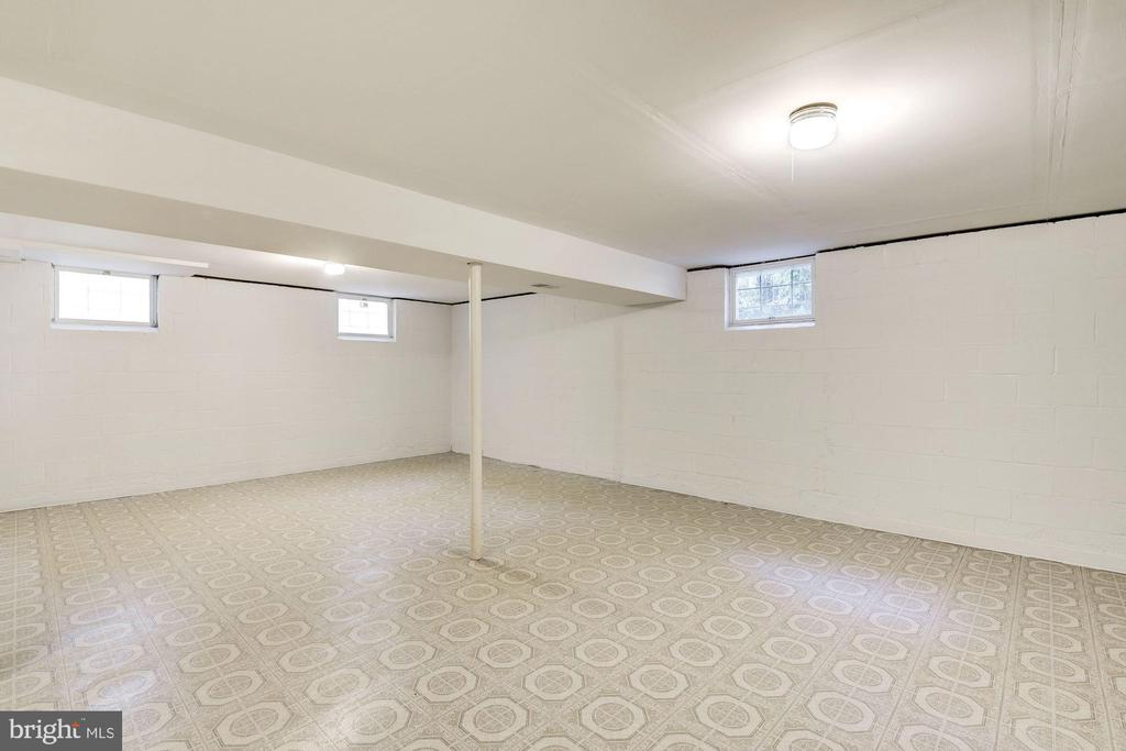 Lower level with lots of lighting and windows. - 1209 GOTH LN, SILVER SPRING