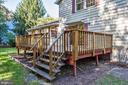 Elevated back yard deck. - 1209 GOTH LN, SILVER SPRING
