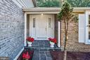 Flag stone walkway to covered door. - 1209 GOTH LN, SILVER SPRING