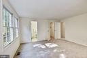 Master bedroom  with bathroom and walk-in closet. - 1209 GOTH LN, SILVER SPRING