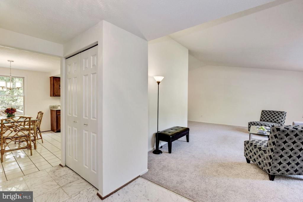 View from foyer of open floor plan. - 1209 GOTH LN, SILVER SPRING