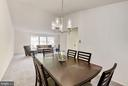 New dining room chandelier. - 1209 GOTH LN, SILVER SPRING