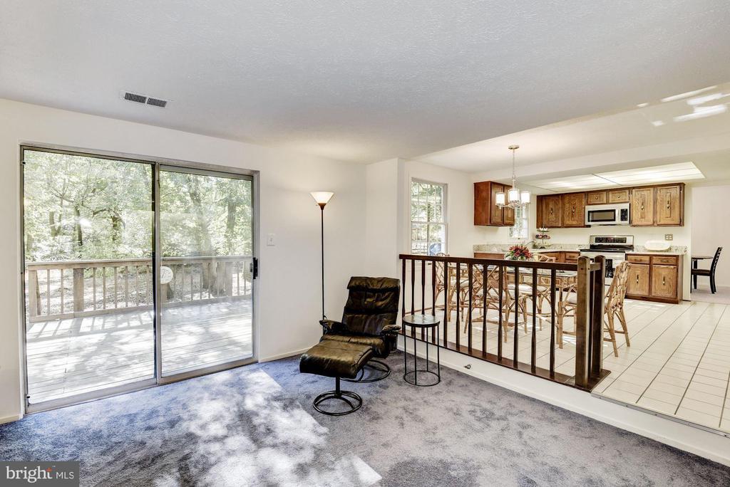 Family room sliding glass doors to backyard deck. - 1209 GOTH LN, SILVER SPRING
