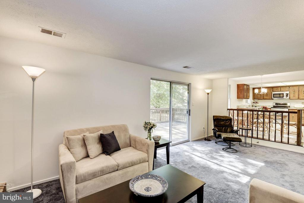 Family room sliding glass doors to deck. - 1209 GOTH LN, SILVER SPRING