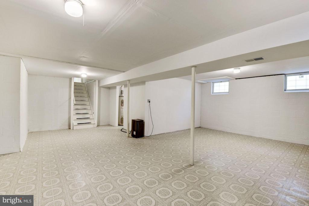 Spacious Lower level with vinyl flooring - 1209 GOTH LN, SILVER SPRING