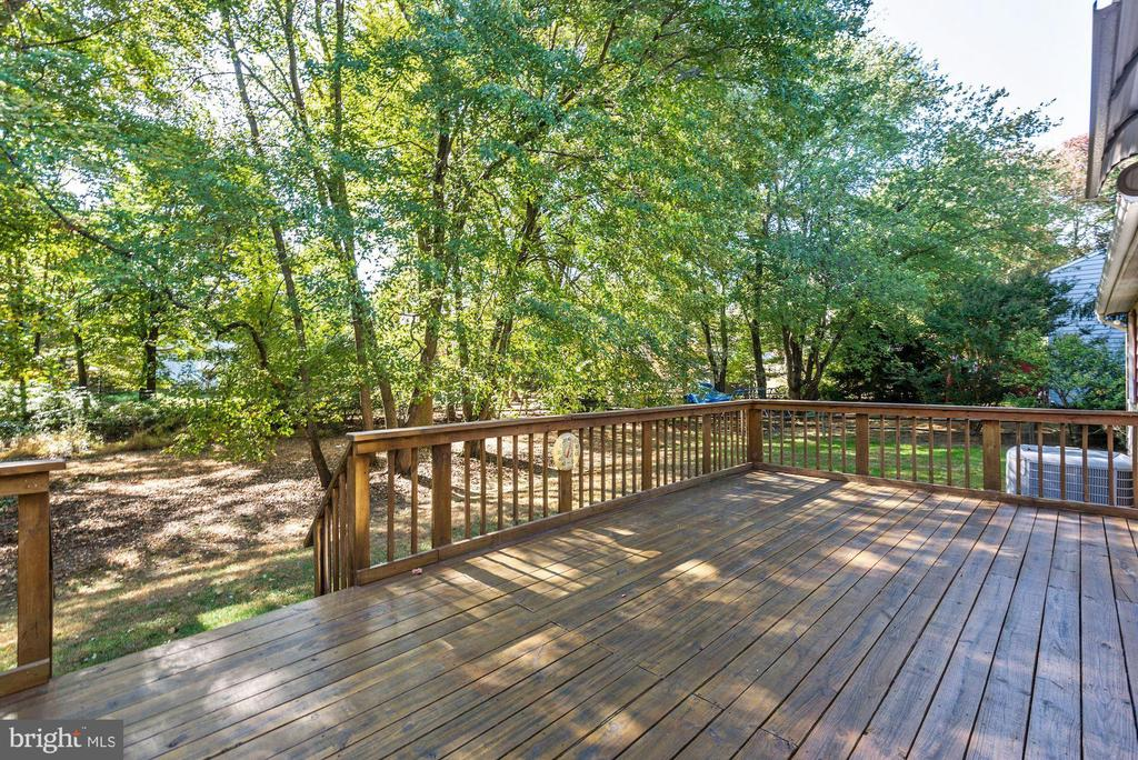 Large deck with beautiful view. - 1209 GOTH LN, SILVER SPRING