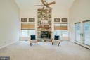 Gorgeous stone fireplace in family room - 3 BULLRUSH CT, STAFFORD