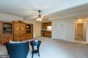 Huge basement rec room with wet bar - 3 BULLRUSH CT, STAFFORD
