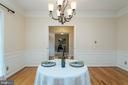 Gorgeous main level dining room - 3 BULLRUSH CT, STAFFORD