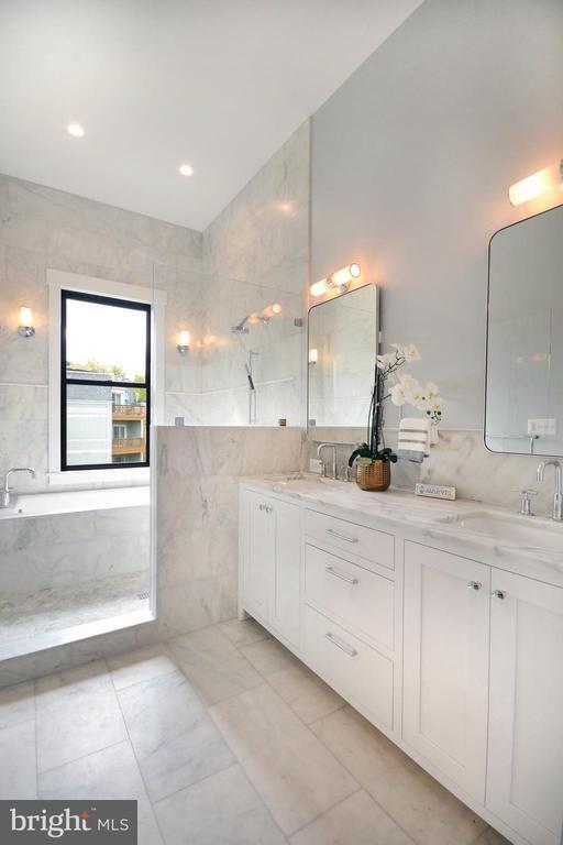 Carrara marble double-vanity - 1432 1/2 G ST SE, WASHINGTON