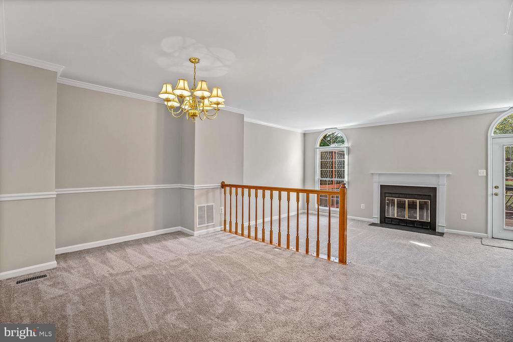 Dining-room overseeing family-room - 46837 TRUMPET CIR, STERLING