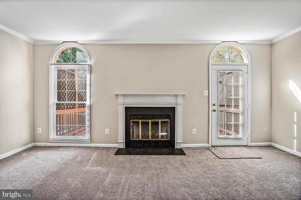 Family-room with wood-burning fireplace - 46837 TRUMPET CIR, STERLING