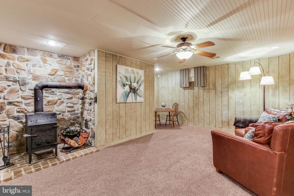 Wood stove in basement - 8240 EDGEWOOD CHURCH RD, FREDERICK