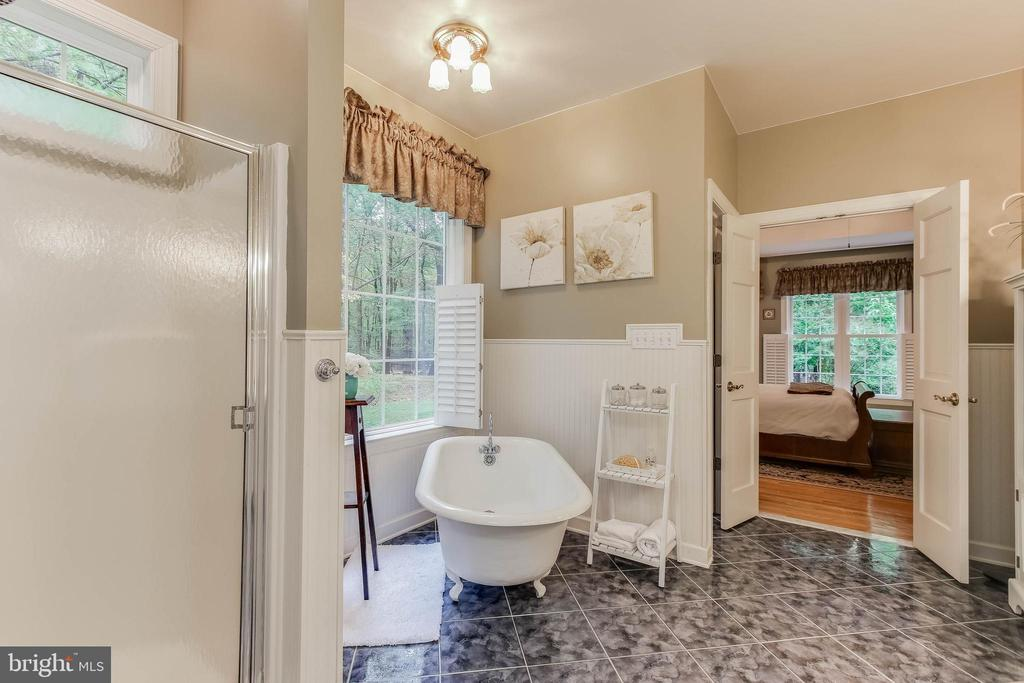 Master bathroom with soaking tub - 8240 EDGEWOOD CHURCH RD, FREDERICK